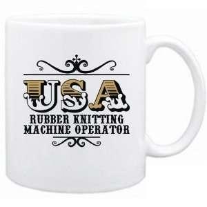 New  Usa Rubber Knitting Machine Operator   Old Style  Mug