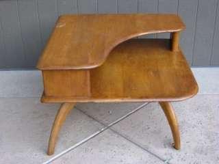 Vintage Heywood Wakefield Corner Stepstone Coffee End Table