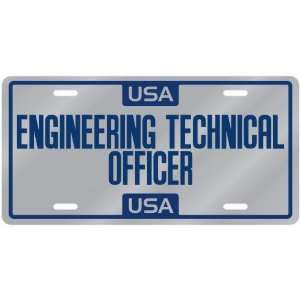 New  Usa Engineering Technical Officer  License Plate Occupations