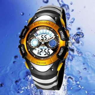 Military Dual Time Zone multifunctional Men Sport Watch