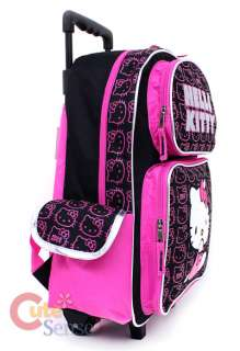 HELLO KITTY School Roller Backpack Rolling Bag Face L