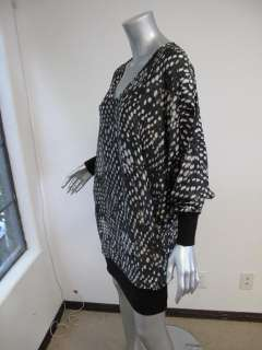 Stella McCartney Black/White Printed Long Sleeve Knit Bottom Dress 44