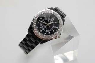 Charming Ceramic Crystal Gemstone Lady Women Fashion Wrist Watch