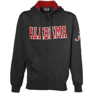 Alabama Crimson Tide Charcoal Classic Twill Full Zip Hoody