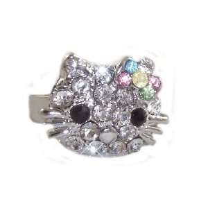 Hello Kitty Crystal Ring with Multi Color Pastel Crystal