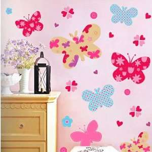Wall Decor Removable Decal Sticker   Colorful Butterflies