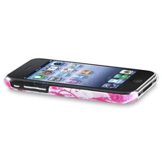 3GS White Dot+Hawaii+Cup Shape+Zebra+Pink Heart Hard Case Cover
