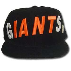 MLB SAN FRANCISCO GIANTS FLAT BILL HAT CAP BLACK 7 1/4