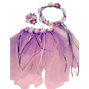 Fairy Pixie Costume Tropical Dress Up Set (3pc) Select