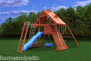 Playset Sun Palace II Childrens Wooden Playset with Monkey Bars