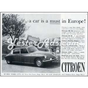 1961 Vintage Ad Citroen  a car is a must in ope