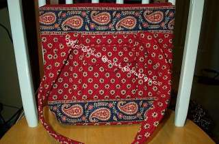 Vera Bradley Retired Americana Red Petite Villager Rare