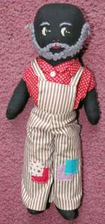 Pre WWII African American Black Grandpa cloth doll Really Cool
