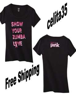 Zumba Party in Pink Crew Neck Tee ~ Small, Med, Large~