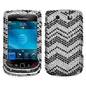 Sparkling Silver with Black Zig Zag Pattern Design Full