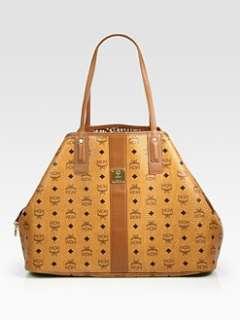 MCM   Liz Reversible Canvas & Leather Shopper Bag