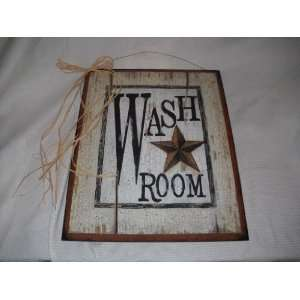 Bathroom on Country Bath Outhouse Sign Wooden Bathroom Wall Signs  Home   Kitchen