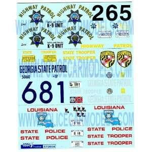 Georgia   Louisiana   Maryland State Police Decals