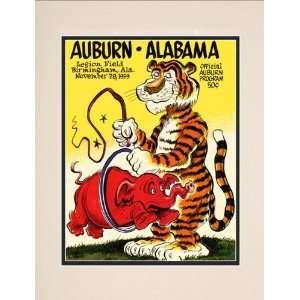 1959 Auburn Tigers vs. Alabama Crimson Tide 10.5x14 Matted