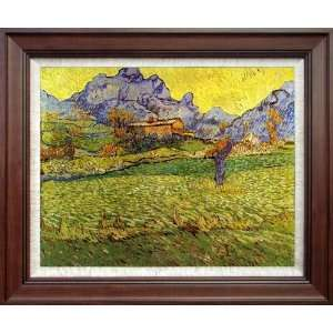 Painting: A Meadow The Mountains Le Mas De Saint Paul   Free Shipping