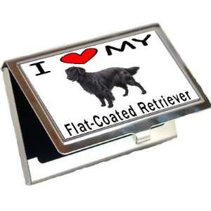 I Love My Flat Coated Retriever Spitz Business Card Holder