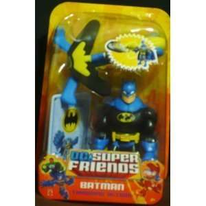 DC Super Friends Batman Black on Blue Throwing Action [Toy