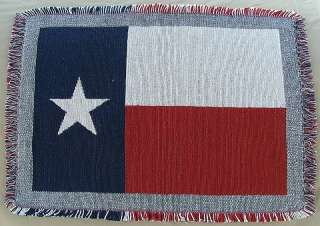 Texas Flag Throw, Woven Cotton Jacquard
