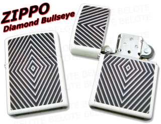 Zippo Diamond Bullseye White Matte Lighter 28039 *NEW*