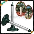 Outdoor Sonic Ultrasonic Wave Solar Mole Mouse Mice Gopher Rodent Pest