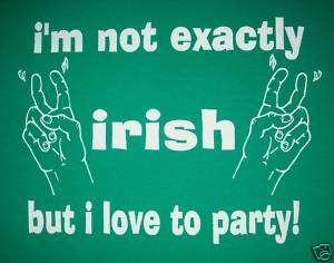 womens funny irish st. patricks day green party t shirt