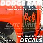 Dodge Ram Truck OEM BED 4X4 Stripes Vinyl HEMI Decal Graphic Sticker