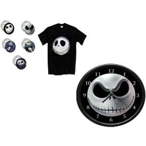 Before Chirstmas Button/Pin, Large Shirt Jack Skellington And Clock