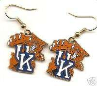 KENTUCKY WILDCATS LOGO J HOOK EARRINGS NEW