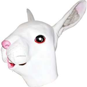 Rabbit Mask: Full Face Rubber Latex Albino Bunny Mask: Toys & Games