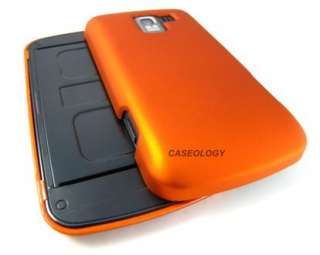 ORANGE RUBBERIZED HARD CASE COVER FOR LG OPTIMUS SLIDER Q NET10 PHONE