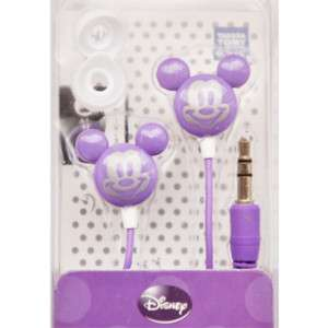 Micky Mouse Style Earphones For Girl Kid MP3 MP4 Purple