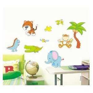 Cute Jungle Animals Wall Sticker Decal for Baby Nursery