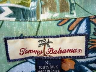 TOMMY BAHAMA HAWAIIAN SHIRT CIGAR LOUNGE SWING CLUB COCKTAILS POKER XL