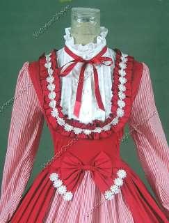 Victorian Gothic Lolita Dress Ball Gown Prom Steampunk Punk D190 L