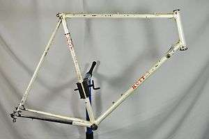 Vintage Kotters Racing Team Lugged Steel Road Bicycle 64cm Bike White