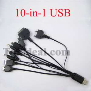 10 in 1 USB Powered Charging Cable for PSP/Cell Phone E