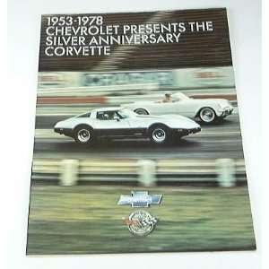 1978 78 Chevrolet Chevy CORVETTE BROCHURE Anniversary