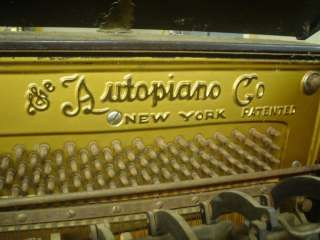 Antique Autopiano Upright Player Piano, mahogany