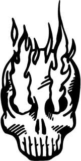 Flaming Skull Decal Car Truck Cycle Window Sticker