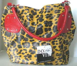 NEW Leopard Animal Print Purse Handbag Pocketbook Red