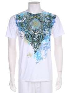 Floral Print Silver Foil MMA Graphic Top White/Black Jean T shirt