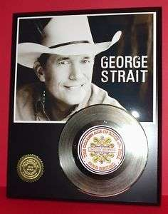 GEORGE STRAIT 24k GOLD RECORD 45 RPM DISPLAY LTD EDT