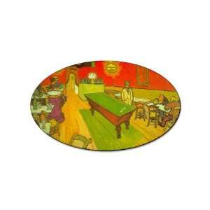Night Cafe By Vincent Van Gogh Oval Sticker Everything
