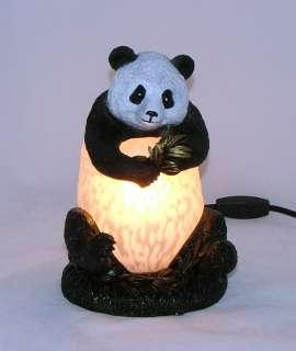 Panda Bear Children Kids Room Decor Glass Lamp
