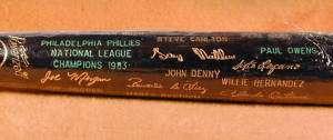 1983 Philadelphia Phillies World Series Black Bat MINT